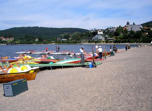 14.-Bootsverleih am Schluchsee (Schluchsee, boats to hire) - geo.hlipp.de - 5180